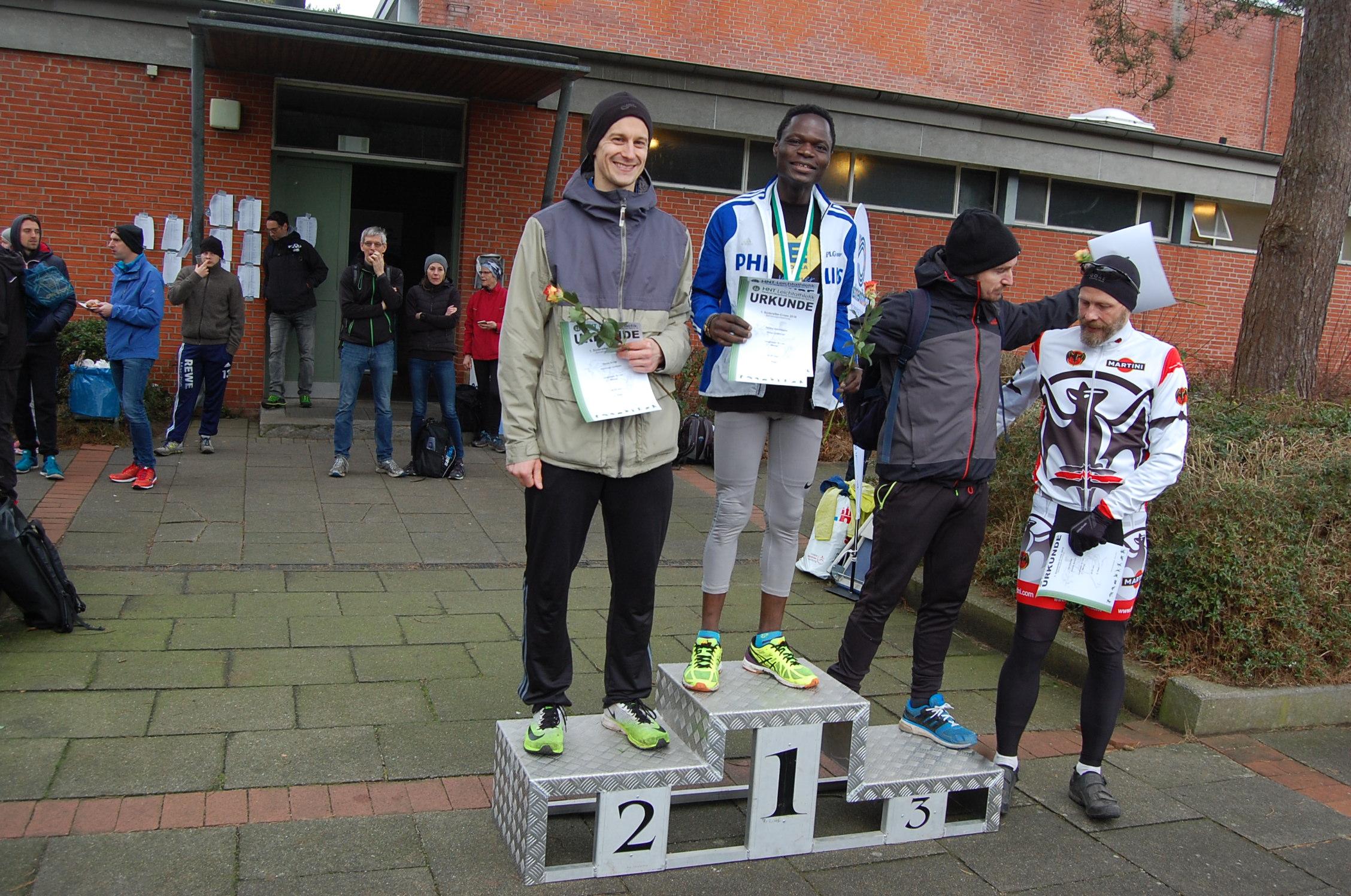1. Süderelbe Cross: Langstrecke, Siegerehrungen Betriebssport